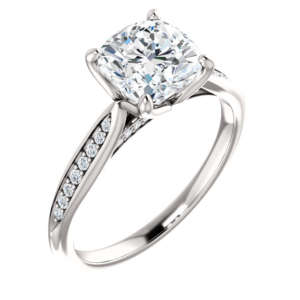 Cushion Engagement Ring - Flora
